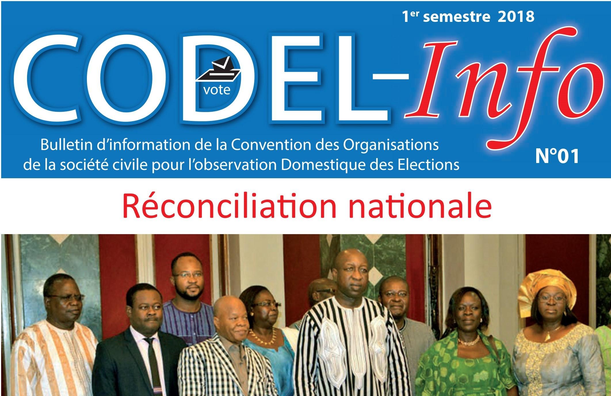 Bulletin d'information de la Convention des Organisations de la société civile pour l'observation Domestique des Elections (CODEL)