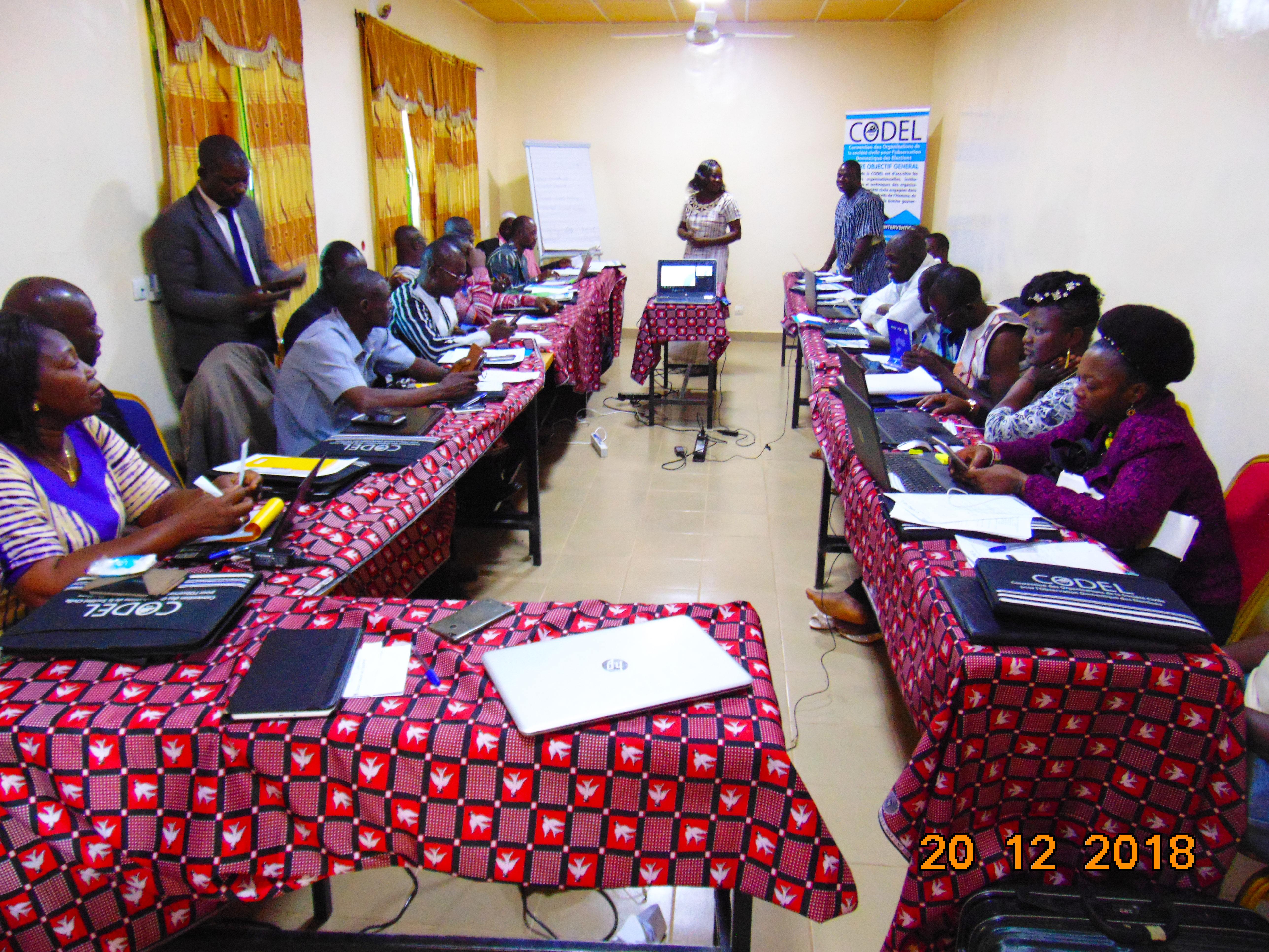 Contrôle Citoyen de l'action publique : La CODEL forme ses relais provinciaux sur le programme présimètre.