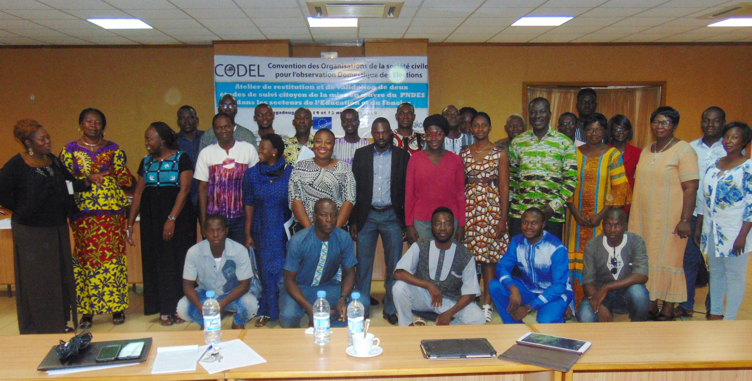 Suivi citoyen des politiques publiques : La CODEL fait la veille dans les secteurs du foncier et de l'éducation.